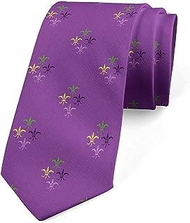Corbata para hombre, martes gordo de la flor de lis, corbata de ...