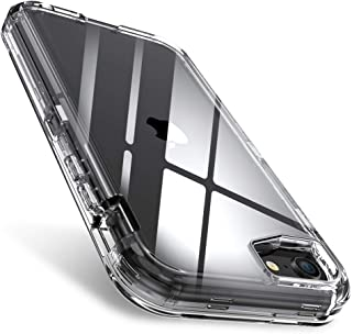 FLOVEME iPhone SE 2020 Case Clear, Compatible with iPhone 8 Case, iPhone 7 Case, iPhone 6/6s Case 3 in 1 Hybrid Duty Shockproof Protective Phone Cases for New Apple iPhone SE 2020/8/7/6/6s, 4.7 inch