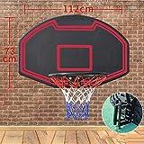 SONGYU-Basketball Set Kids Basketball Hoop Indoor Basketball Board Teen Entertainment Hanging Rebound Wall-Mounted 112x73cm Basketball Stand (Color : Red)