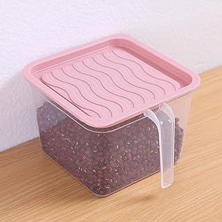 1 pièces cuisine boîte de rangement transparente bocal scellé grains haricots organisateur de stockage contenants alimenta...