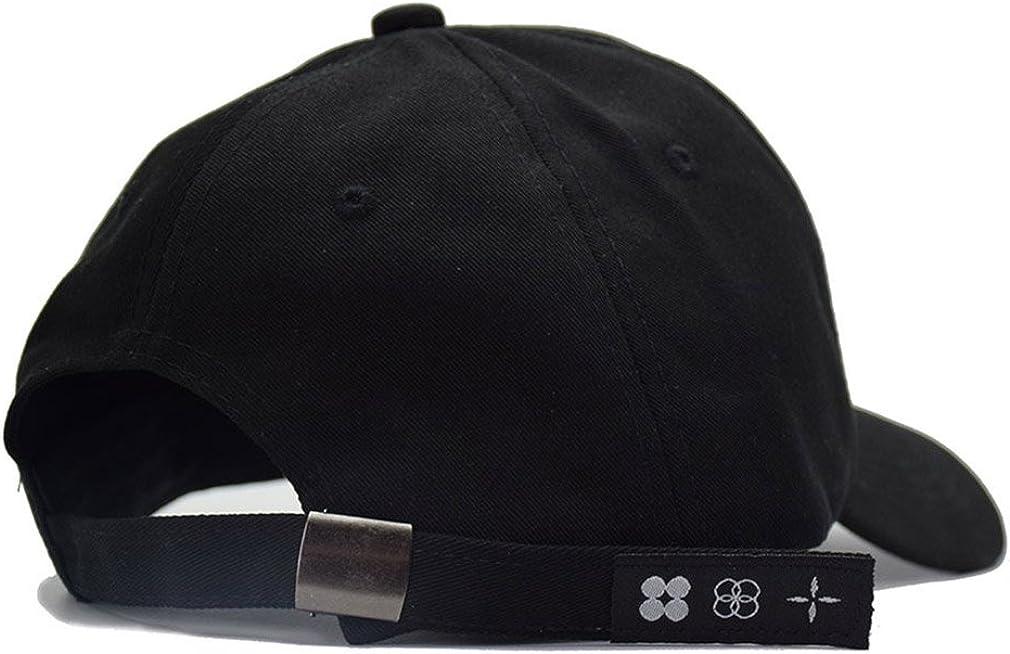 Kokkn Baseball Cap K-pop Boys Outdoor Iron Ring Snapback Hat Casual Adjustable Dad Hat Hip Hop Hat