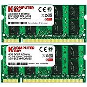 Komputerbay 8 GB (2 x 4GB) PC2-6400 DDR2-800 SoDIMM Dual Channel Laptop Memory Kit
