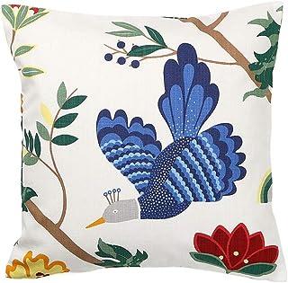 クッションカバー 45×45cm boras cotton(ボラスコットン)BIRDLAND(バードランド) ホワイト 青い鳥