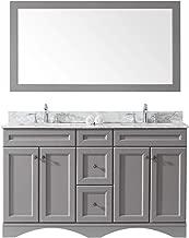 Best 60 inch double sink vanity gray Reviews