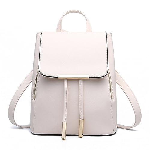 e5252107949b FOLLOWUS Women PU Leather Backpack School Bag Shoulder Bags Fashion Travel  Bags Casual Daypack
