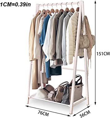 YMJ Solid Wood Hat Clothes Stand,Entryway Coat Rack Stand Hall Tree Coat Shoe Rack for Living Room Bedroom Corridor Coat Racks (Color : White)