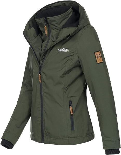 Marikoo Designer Damen /Übergangs Jacke leicht gef/üttert Kapuze kurz B659