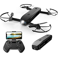 Holy Stone 1080p RC Foldable Quadcopter Drone with Modular Battery, 8G TF Card