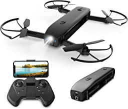 Holy Stone HS161 Drone with Camera, Foldable, Optical Flow Function, Less Than 7.1 oz (200 g), Ultra Stable, Safe, High Definition 1,080P Pockets, Selfie Drone, Mobile Battery, Lamp, Portable, Mode 1/2 Free Change, Live Relay, Altitude Maintenance, Certif