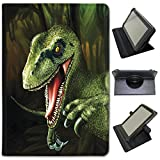 Fancy A Snuggle Jurassic Dinosaure Terrible Lézard Étui en Simili Cuir Housse Sac avec Support de visionnage pour tablettes Archos Archos 101b Xenon 10.1 inch Velociraptor Scary Raptor