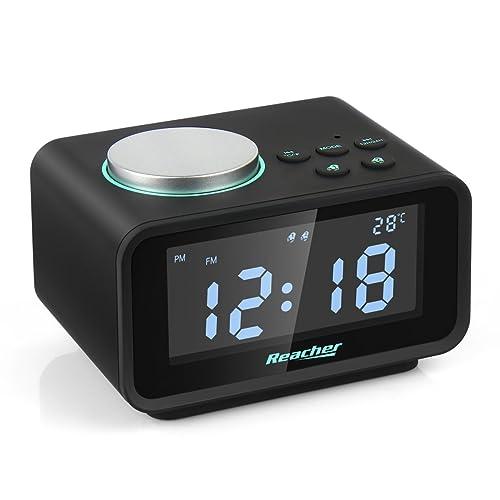 0ee3698a2fbc Reacher Radio Reloj Despertador con Alarma Dual