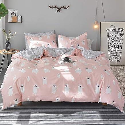 水漾 小清新纯棉四件套简约1.8m床上用品被套床单全棉学生三件套 熊本熊 1.8m床(适合200*230cm被子)四件套