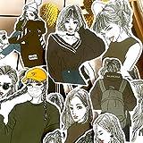 DSSK Vintage Negro Blanco suéter Chica Pegatina DIY Craft Scrapbooking álbum Basura Diario Feliz planificador Decorativo Pegatinas 22 unids/Set