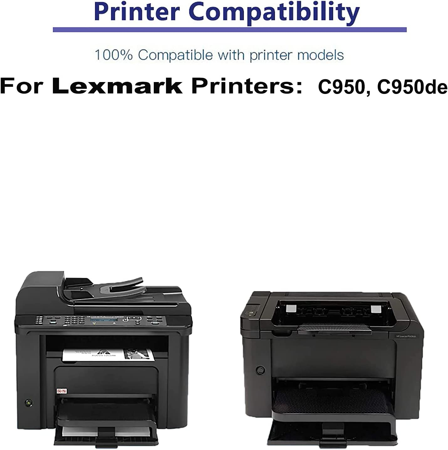 1-Pack (Yellow) Compatible High Yield C950X1YG Laser Printer Toner Cartridge Used for Lexmark C950, C950de Printer