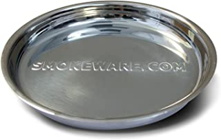 SmokeWare Stainless Steel Drip Pan - Big Green Egg Grilling Accessory, 14-inch Diameter