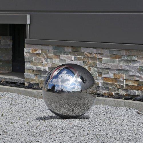 30cm Edelstahlkugel für Garten Deko Kugeln aus Edelstahl 30 cm