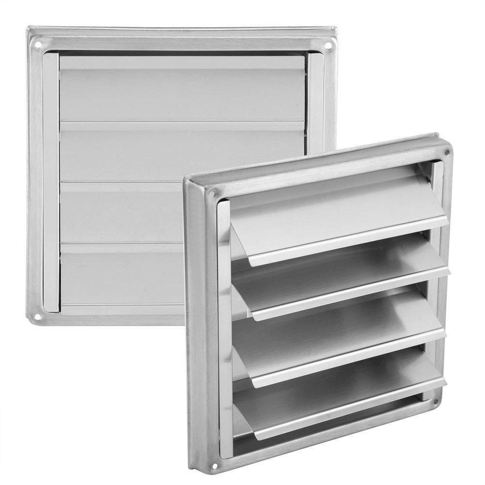 Rejilla del ducto de ventilación de acero inoxidable, rejilla cuadrada del ducto de ventilación de aire con solapas de gravedad antirrugas Fijaciones de tornillo Pinzas de retención y sello: Amazon.es: Bricolaje y