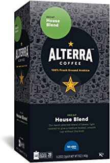 ALTERRA Coffee Decaf House Blend Single Serve Freshpacks for MARS DRINKS FLAVIA Brewer, 20 Packets