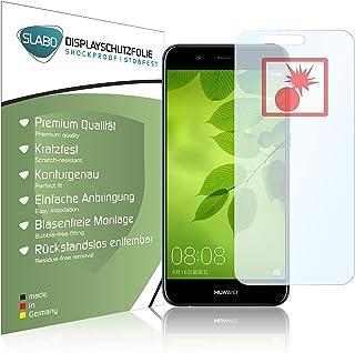 Slabo 2 x skydd skärmskydd kompatibel med Huawei Nova 2 Plus skärmskydd skyddande film stötsäker klar