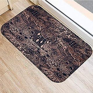 OPLJ Stone Stripe Marble Pattern Anti-Slip Suede Carpet Door Mat Doormat Outdoor Kitchen Living Room Floor Mat Rug A18 40x...