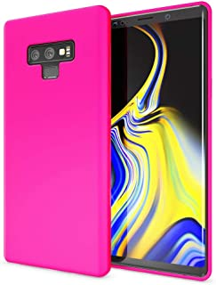 NALIA Phone Cover Compatible with Samsung Galaxy Note 9, Ultra-Thin TPU Case Neon Silicone Back Protector Rubber Soft Back Skin, Protective Shockproof Slim Gel Smartphone Bumper, Color:Pink