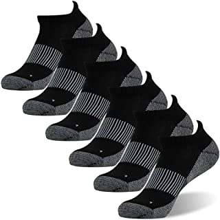 Copper Antibacterial Socks, FOOTPLUS Unisex Athletic Ankle Crew Socks 3/6 Pairs