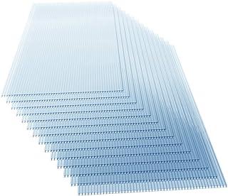 Deuba Placas de policarbonato 14 paneles 60,5x121cm 10,25m² doble pared de policarbonato resistente a los rayos UV