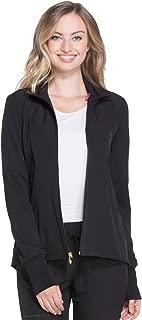 HS315 Women's Zip Front Warm-Up Solid Scrub Jacket
