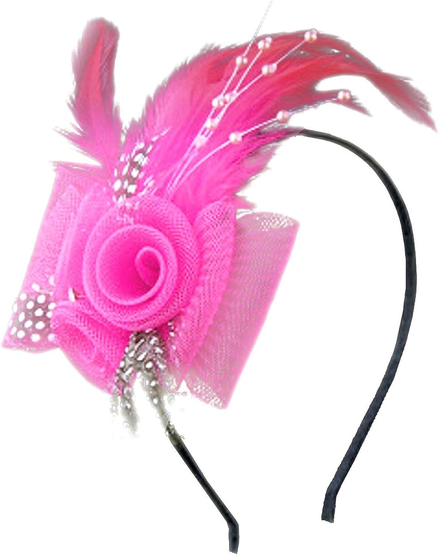 Anita Women's Fascinators Bow Max 66% OFF Beaded Inexpensive Feather Headband