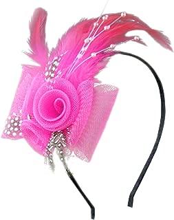 Anita Women's Fascinators Bow Feather Beaded Headband