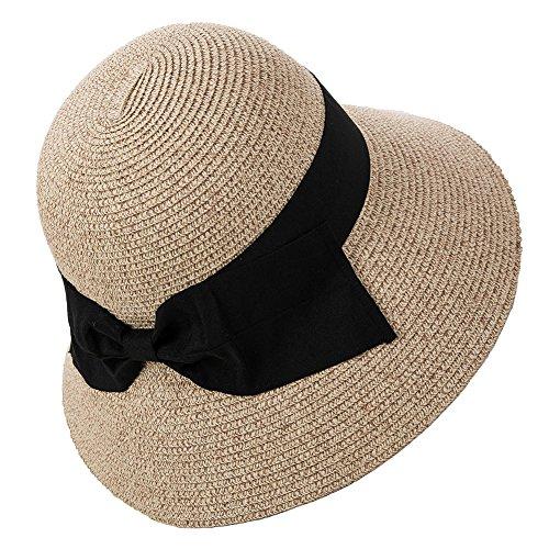 SIGGI accesorios Womens UPF50plegable sol de verano playa sombrero d