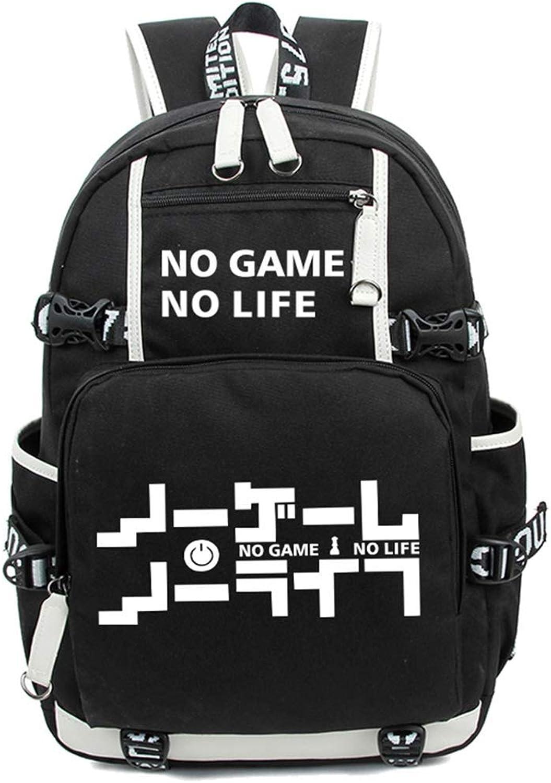 No Game No Life Glowing Anime Backpack School Backpack Backpack School Bag