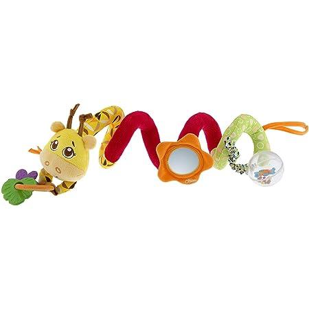 Chicco Fune Passeggio Mrs Giraffa, Spirale Passeggino Colorata a Forma di Giraffa, Gioco Passeggino con Sonaglio Neonato, Anello con Pendenti e Specchietto - Giochi Neonato e Bambini 6 Mesi - 3 Anni