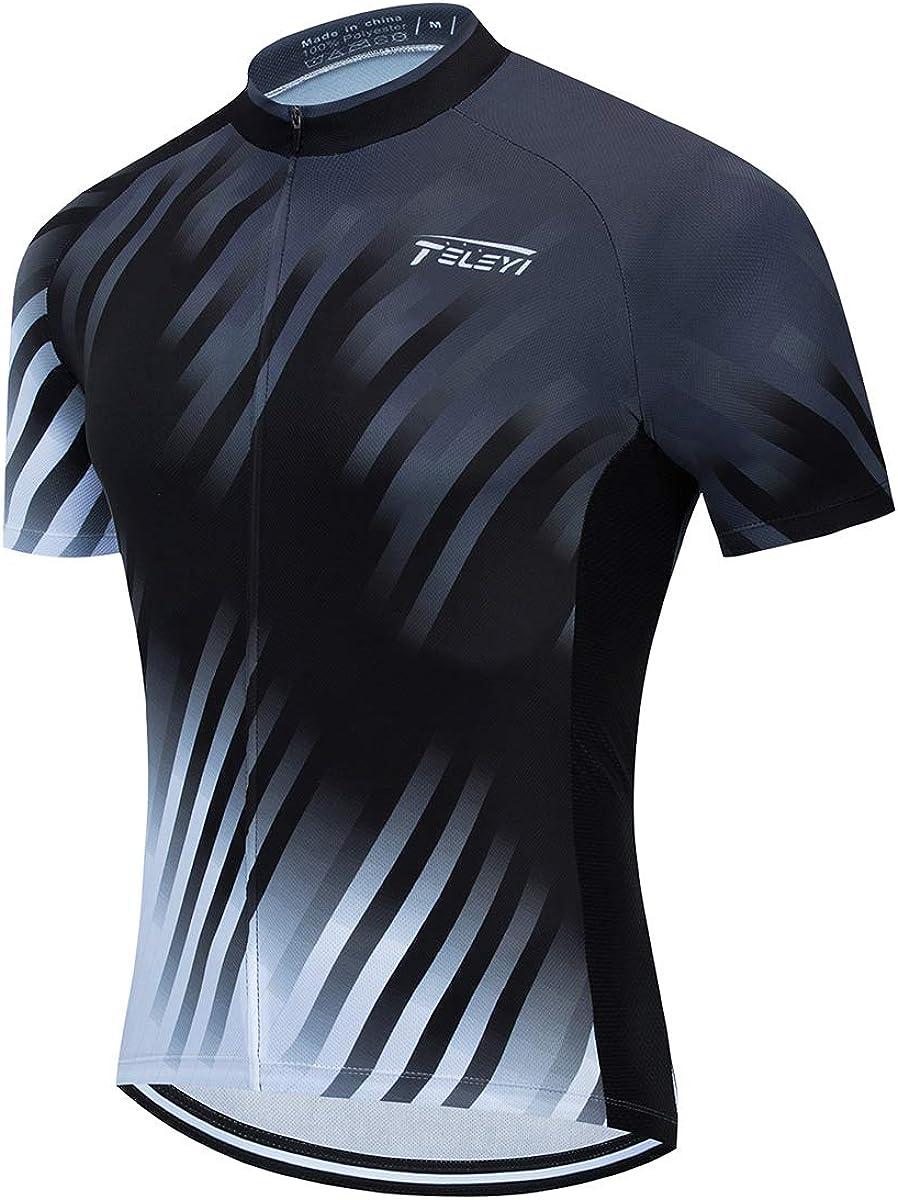 PSPORT Nashville-Davidson Mall Men's Cycling Jersey Short Breathable Bike Sleeve specialty shop Shirts