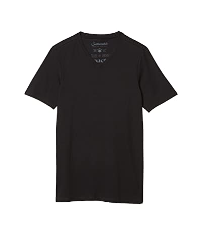 PACT Stretch-Fit V-Neck Undershirt 4-Pack (Black) Men