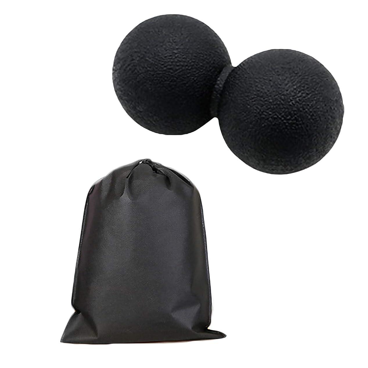 プレゼンタースケルトン公使館Migavan マッサージボールローラーバックマッサージボール収納袋が付いているピーナツマッサージのローラーボールのマッサージャー