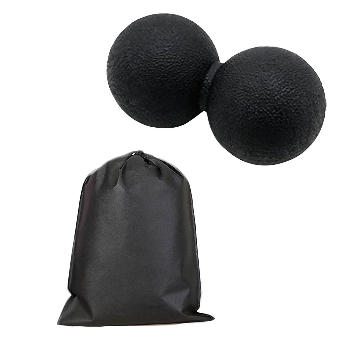 新聞課すマスクMigavan マッサージボールローラーバックマッサージボール収納袋が付いているピーナツマッサージのローラーボールのマッサージャー