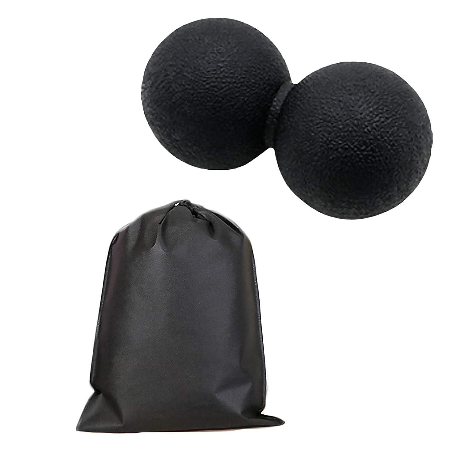 印象凶暴なガレージMigavan マッサージボールローラーバックマッサージボール収納袋が付いているピーナツマッサージのローラーボールのマッサージャー
