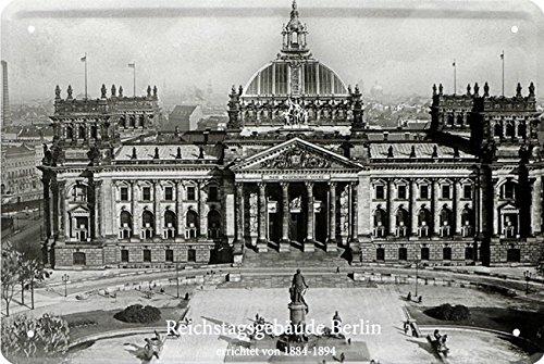 Reichstagsbauude Berlin Niemcy Rzesza blaszana tabliczka 20 x 30 Retro blacha 209