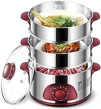 DYB Cuiseur à Vapeur électrique en Acier Inoxydable, cuiseur à Vapeur à légumes 3 Couches Cuiseur à Vapeur à légumes, Acie...