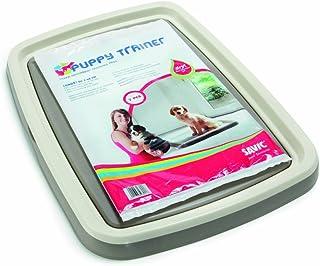 Savic Puppy Trainer Hundetoilette für Welpen, Starter-Set, Toilette mit 7 Pads, Größe L, 62,5 x 48 x 4cm