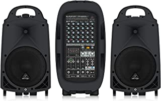 BEHRINGER, 8 PPA2000BT Ultra-Compact 2000-Watt 8-Channel Portable Pa System with Bluetooth Wireless Technology Black