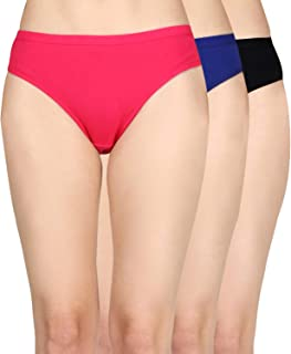 Nupremo Womens Brief/Hipster 100% Cotton Ladies Multi Color Panty Inner wear Hipster Panties for Womens (Pack of 1)