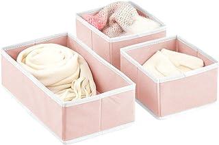 mDesign boîte de Rangement (Set de 3) – bac de Rangement en 2 Tailles différentes pour Chambre de bébé – corbeilles de Ran...