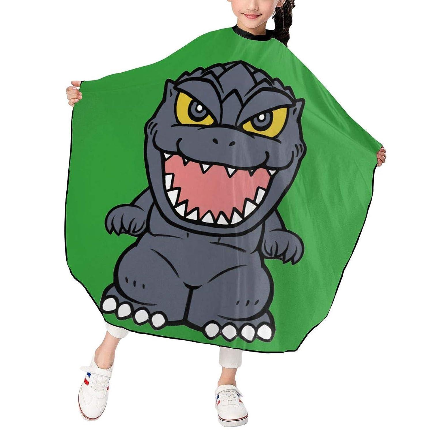 ひそかにエキサイティング透けるPST-LF Godzilla ゴジラ 恐竜 散髪ケープ 散髪マント ファミリー理髪 折りたたみ式 ヘアカットケープ ヘアダイケープ 自宅 サロン 防水 散髪マント 幼児用 ヘアカット 子供用ヘアカットケープ 散髪ケープ