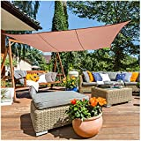 Toldo Vela Impermeable 95% Pantalla De Tela,Resistente A Los Rayos UV Sombra Tela For Jardín Patio Bloqueador Solar De Malla Pérgola Cubierta De Copas,Marrón,2x2m 2x3m 3x3m 3x4m 4x5m(Size:4m x 6m)