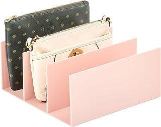 mDesign rangement porte-monnaie – présentoir en plastique pratique à 5 compartiments pour portefeuilles, étuis à cartes, p...