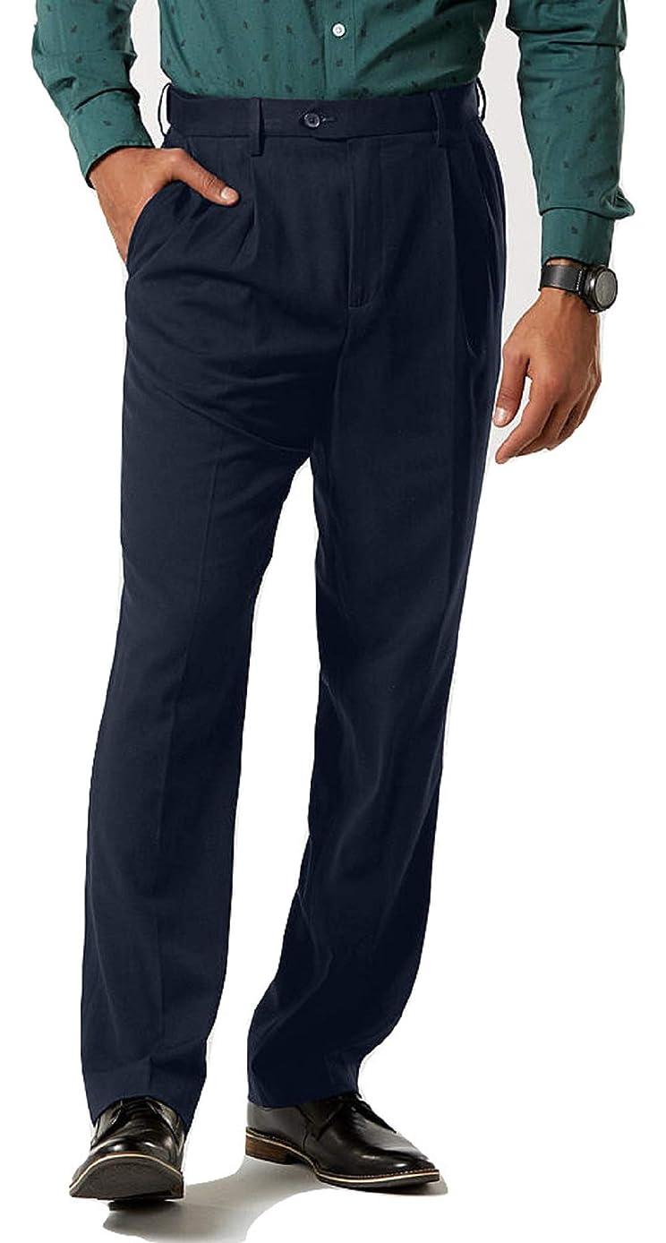 David Taylor Collection Men's Classic Fit Dress Pants Size 34x30 Navy
