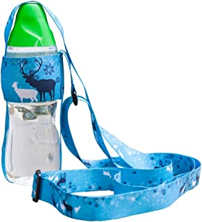 Water Bottle Carrier with Adjustable Shoulder Strap Perfect for Jogging Hiking Camping, Walking with Pets Outdoor, Bottle Sling for Beverage Bottle, Universal Water Bottle Lanyard