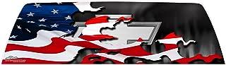 GATORWRAPS - Chevy Patriotic Flag Window Graphic -
